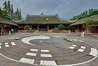 Chengdu, China - September 18, 2014: Qingyang Gong taoist temple  in Chengdu Sichuan China