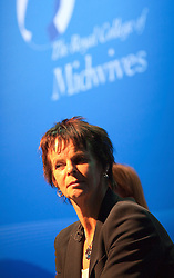 © under license to London News Pictures. 17/11/2010. Health Minister Anne Milton MP waits to address an audience of Midwives at The Royal College of Midwives' conference, in Manchester