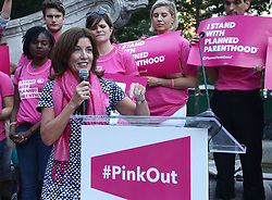 June 21, 2017 - New York, New York, U.S. - Lieutenant Governor of New York KATHY HOCHUL speaks at Planned Parenthood PinkOut rally protesting proposed cuts to Planned Parenthood in Trump's Health Care Bill held in Columbus Circle. (Credit Image: © Nancy Kaszerman via ZUMA Wire)