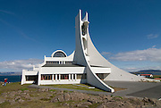 Very modern church. Stykkishólmur. Iceland.