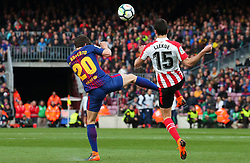 March 18, 2018 - Barcelona, Spain - Sergi Roberto and Lekue during the match between FC Barcelona and Athletic Club, played at the Camp Nou Stadium on 18th March 2018 in Barcelona, Spain. (Credit Image: © Joan Valls/NurPhoto via ZUMA Press)