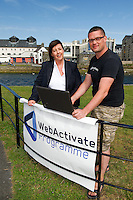 Ann Heneghan, (Solicitors Heneghan & Assoc., Joyce House Galway) and Richard Conroy, Web Activator. Photo:Andrew Downes.