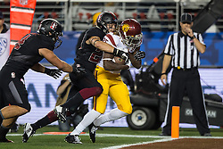 SANTA CLARA, CA - DECEMBER 05:  Running back Ronald Jones II #25 of the USC Trojans scores a touchdown against the Stanford Cardinal during the third quarter of the Pac-12 Championship game at Levi's Stadium on December 5, 2015 in Santa Clara, California. The Stanford Cardinal defeated the USC Trojans 41-22. (Photo by Jason O. Watson/Getty Images) *** Local Caption *** Ronald Jones II