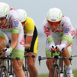 Brainwash Ladiestour Dronten Team Time Trail Janneke Kanis en Adrie Visser