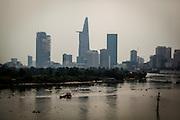 Bitexco Tower seen from Thu Thiem Bridge, Ho Chi Minh City, Vietnam, Southeast Asia