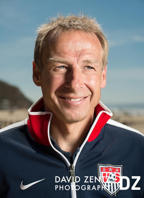 Jurgen Klinsmann for 11 Freunde magazine at Crystal Cove State Park in Laguna Beach, Calif.