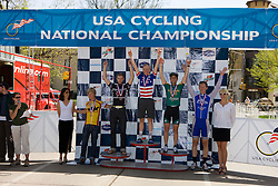Men's division 1 individual omnium winners Andrew Talansky (Lees-McRae College), Phillip Mann (Colorado State University), Steve Scholzen (University of Wisconsin - Madison), Joshua Lipka (University of New Hampshire), and Alex Boyd (Midwestern State University).  Podium awards were given out after The 2008 USA Cycling Collegiate National Championships Criterium event held in Fort Collins, CO on May 11, 2008.