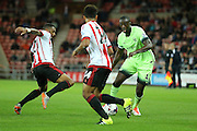 Manchester City midfielder Yaya Toure during the Capital One Cup match between Sunderland and Manchester City at the Stadium Of Light, Sunderland, England on 22 September 2015. Photo by Simon Davies.