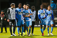 Joie groupe Brest  - 26.01.2015 - Angers / Brest - 21eme journee de Ligue 2 -<br /> Photo : Vincent Michel / Icon Sport