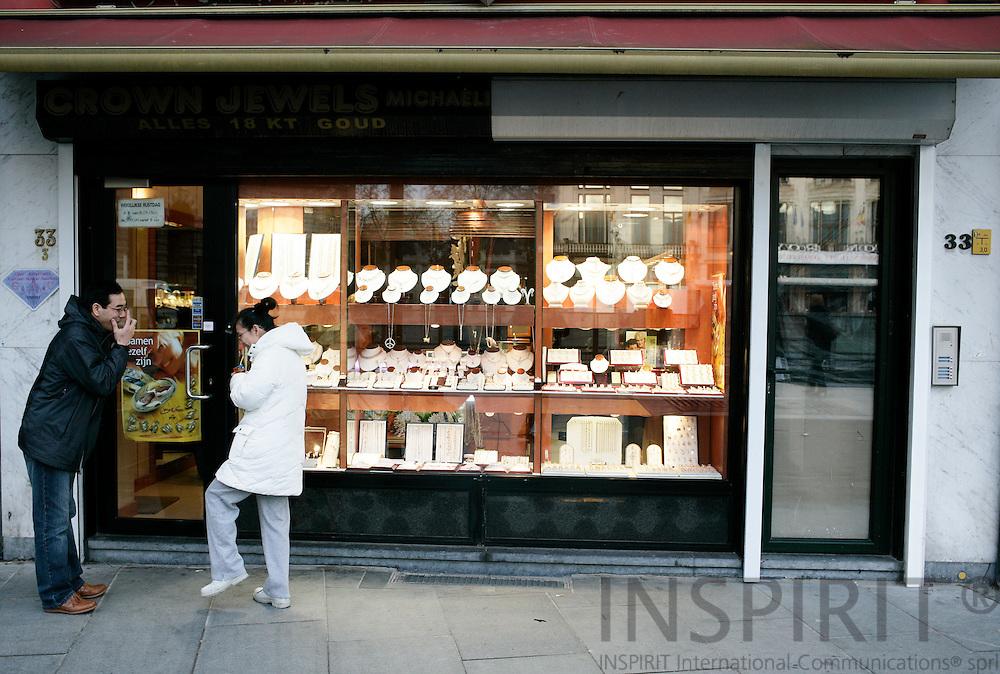 ANTWERP - BELGIUM - 19 MARCH 2007 --Jewellery shops in Antwerp.  PHOTO: ERIK LUNTANG