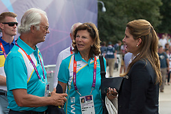HRH King and Queen of Sweden and HRH Princess Haya (JOR)<br /> Olympic Games London 2012<br /> © Dirk Caremans