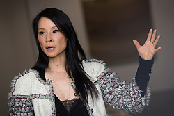"© Licensed to London News Pictures . FILE PICTURE DATED 17/05/2013 . The Popular Institute , Manchester , UK . American actress and model LUCY LIU at a preview of her art exhibition , "" Totem "" which is open to the public from this Tuesday (21st May) until June 22nd . Her work features a series of hand stitched linen canvases and sculptures which , she says , explores the fragility of the human form through a recurring theme of the human spine . Liu said she chose Manchester as she likes its "" underground "" cultural scene and that "" people can get a bit jaded with the whole London scene "" . The exhibited works are for sale for between £8,000 and £16,000 with all profits going to UNICEF . Photo credit : Joel Goodman/LNP"