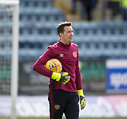 1st April 2018, Dens Park, Dundee, Scotland; Scottish Premier League football, Dundee versus Heart of Midlothian; Hearts' goalkeeper Jon McLaughlin