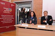 Roma, 28 novembre 2011<br /> Basket, presentazione nuovo allenatore nazionale italiana femminile <br /> nella foto: sandra palombarini, dino meneghin<br /> foto Ciamillo
