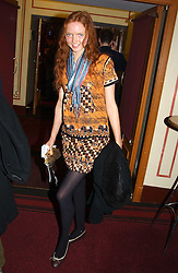 Model LILY COLE at the return of Dralion to celebrate the Cirque Du Soleil's 20th Anniversary at the Royal Albert Hall, London on 6th January 2005.<br /><br />NON EXCLUSIVE - WORLD RIGHTS