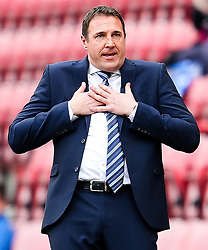 Wigan Athletic Manager, Malky Mackay during his final game in charge - Photo mandatory by-line: Matt McNulty/JMP - Mobile: 07966 386802 - 06/04/2015 - SPORT - Football - Wigan - DW Stadium - Wigan Athletic v Derby County - SkyBet Championship