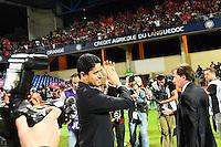 Joie PSG Champion - Nasser AL KHELAIFI - 16.05.2015 - Montpellier / Paris Saint Germain - 37eme journée de Ligue 1<br />Photo : Alexandre Dimou / Icon Sport
