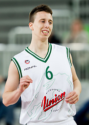 Rok Cindric of Olimpija during basketball match between KK Union Olimpija and KK Sentjur in 4th Round of Telemach League for Slovenian National Champion 2011/12, on April 4, 2012, in Arena Stozice, Ljubljana, Slovenia. (Photo by Vid Ponikvar / Sportida.com)