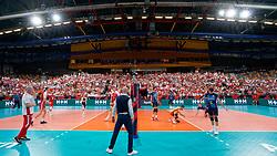 21-09-2019 NED: EC Volleyball 2019 Poland - Spain, Apeldoorn<br /> 1/8 final EC Volleyball / Centercourt support fan De Voorwaarts