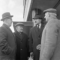 R4372<br /> Pictured is P.Byrne, City Hall Garrison. Also pictured are T. Jennings, St. Stephen's Green Garrison, John Kavanagh and Matthew Connolly. April 3 1966.<br /> (Part of the Independent Newspapers Ireland/NLI Collection)