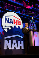 Federal Reserve Chairman Ben Bernanke addresses members of the National Association of Home Builders during the International Builders' Show in Orlando, Florida, U.S., on Friday, Feb. 10, 2012.  Photographer: Phelan M. Ebenhack