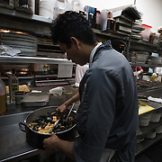 ALEXANDRIA, VA - FEB1: The executive chef at a restaurant in Alexandria, VA, is undocumented and has worked his way up from dishwasher to executive chef. (Photo by Evelyn Hockstein/For The Washington Post)