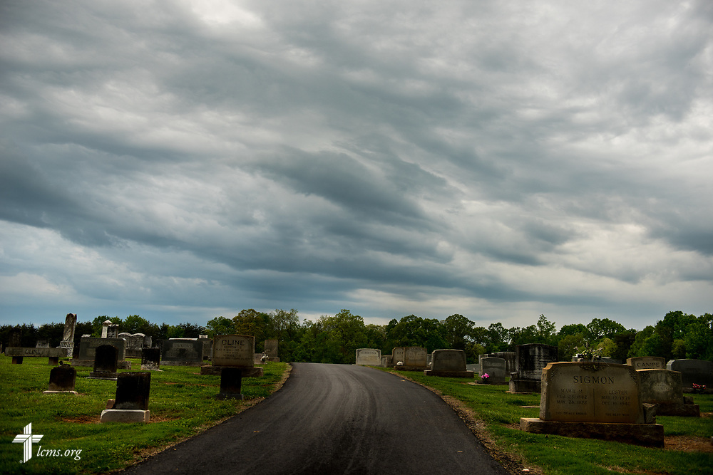 The cemetery at St. John's Lutheran Church, Conover, N.C, on Friday, April 21, 2017. LCMS Communications/Erik M. Lunsford