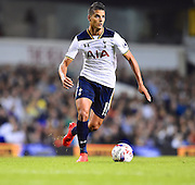 Erik Lamela of Tottenham looks for options during the EFL Cup match between Tottenham Hotspur and Gillingham at White Hart Lane, London, England on 21 September 2016. Photo by Ian  Muir.*** during the EFL Cup match between Tottenham Hotspur and Gillingham at White Hart Lane, London, England on 21 September 2016. Photo by Ian  Muir.