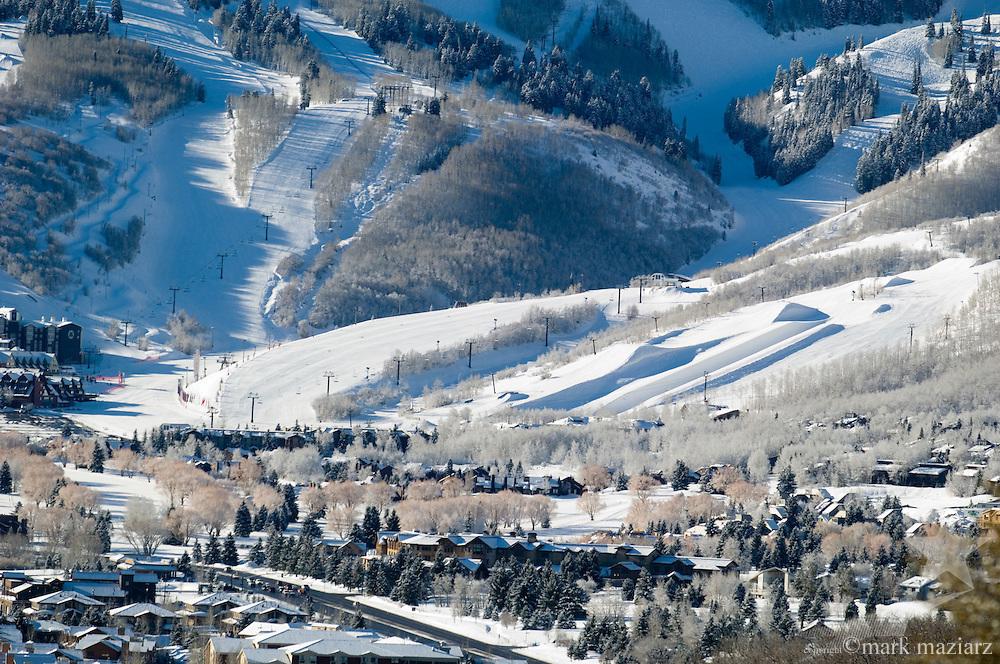ski runs at Park City Mountain Resort after snowstorm