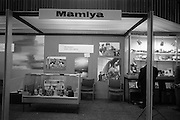 09/04/1964<br /> 04/09/1964<br /> 09 April 1964<br /> Photographic equipment company stands at the Photography Fair at the Intercontinental Hotel, Dublin. The Mamiya stand.