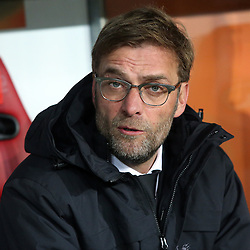 18.02.2016, WWKArena, Augsburg, GER, UEFA EL, FC Augsburg vs FC Liverpool, Sechzehntelfinale, Hinspiel, im Bild Trainer Juergen Klopp ( FC Liverpool ) // during the UEFA Europa League Round of 32, 1st Leg match between FC Augsburg and FC Liverpool at the WWKArena in Augsburg, Germany on 2016/02/18. EXPA Pictures © 2016, PhotoCredit: EXPA/ Eibner-Pressefoto/ Langer<br /> <br /> *****ATTENTION - OUT of GER*****