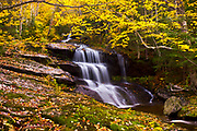 I was very surpised to come across these unnamed falls on my way down Old Speck in Grafton Notch State Park.  The fall foliage was at absolute peak, creating a beautiful setting for this beautiful three-tiered waterfall.