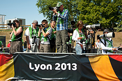 Behind the scenes, Photographers, , , 2013 IPC Athletics World Championships, Lyon, France
