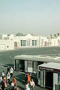 Transit passengers at Doha airport. Doha, Qatar.