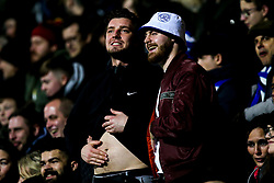 Queens Park Rangers fans gesture towards the Watford fans - Mandatory by-line: Robbie Stephenson/JMP - 15/02/2019 - FOOTBALL - Loftus Road - London, England - Queens Park Rangers v Watford - Emirates FA Cup fifth round proper
