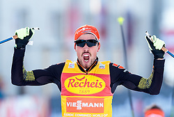 17.12.2016, Nordische Arena, Ramsau, AUT, FIS Weltcup Nordische Kombination, Langlauf, im Bild Sieger Johannes Rydzek (GER) jubelt // Winner Johannes Rydzek of Germany celebrate during Cross Country Competition of FIS Nordic Combined World Cup, at the Nordic Arena in Ramsau, Austria on 2016/12/17. EXPA Pictures © 2016, PhotoCredit: EXPA/ JFK