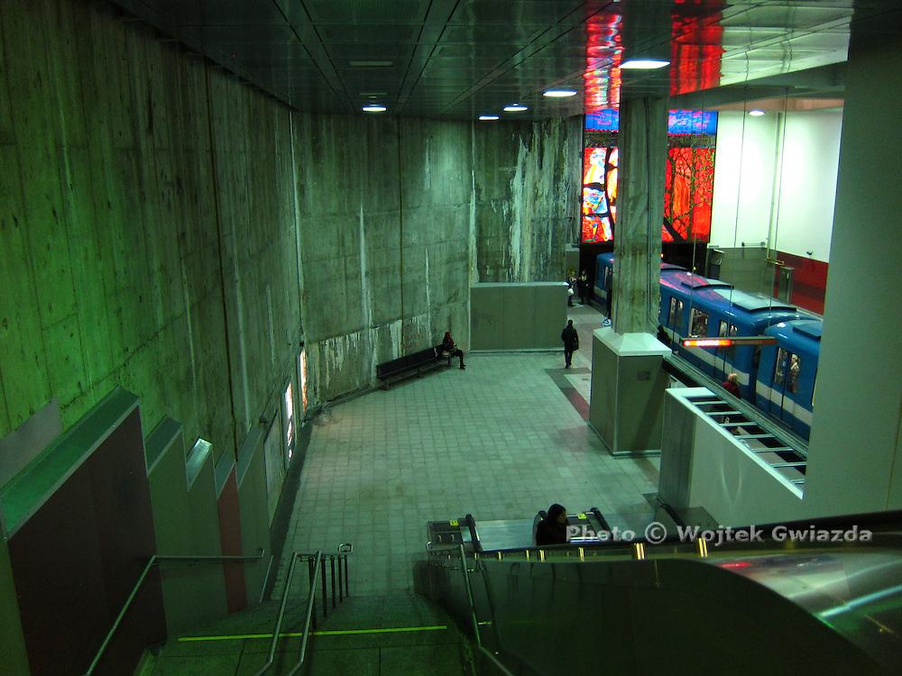 Berri-UQAM Metro station in Montreal (during renovation).
