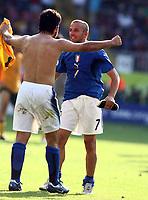 Foto Omega/Colombo<br /> 26/06/2006 Campionati Mondiali di Calcio 2006<br /> Ottavi di Finale <br /> Italia -Australia  <br /> nella foto : Alessandro Del Piero e Gennaro Gattuso