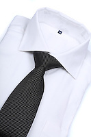 Tie on white background - close-up
