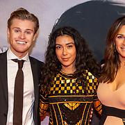 NLD/Amsterdam/20200217-Suriname filmpremiere, Quinty Trustfull - van den Broek en dochter Moise met partner Kay van der Voort