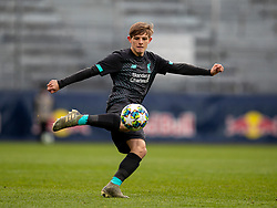 GRÖDIG, AUSTRIA - Tuesday, December 10, 2019: Liverpool's Leighton Clarkson during the final UEFA Youth League Group E match between FC Salzburg and Liverpool FC at the Untersberg-Arena. (Pic by David Rawcliffe/Propaganda)