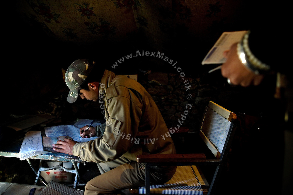 The Indian Army routinely check foreign passports in various locations along the Leh-Manali Highway.