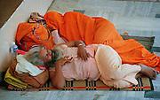 Sleeping Pilgrims - Rishikesh - India