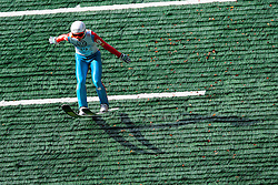 Jaka Hvala during Slovenian summer national championship and opening of the reconstructed Bloudek's hill in Planica on October 14, 2012 in Planica, Ratece, Slovenia. (Photo by Grega Valancic / Sportida)