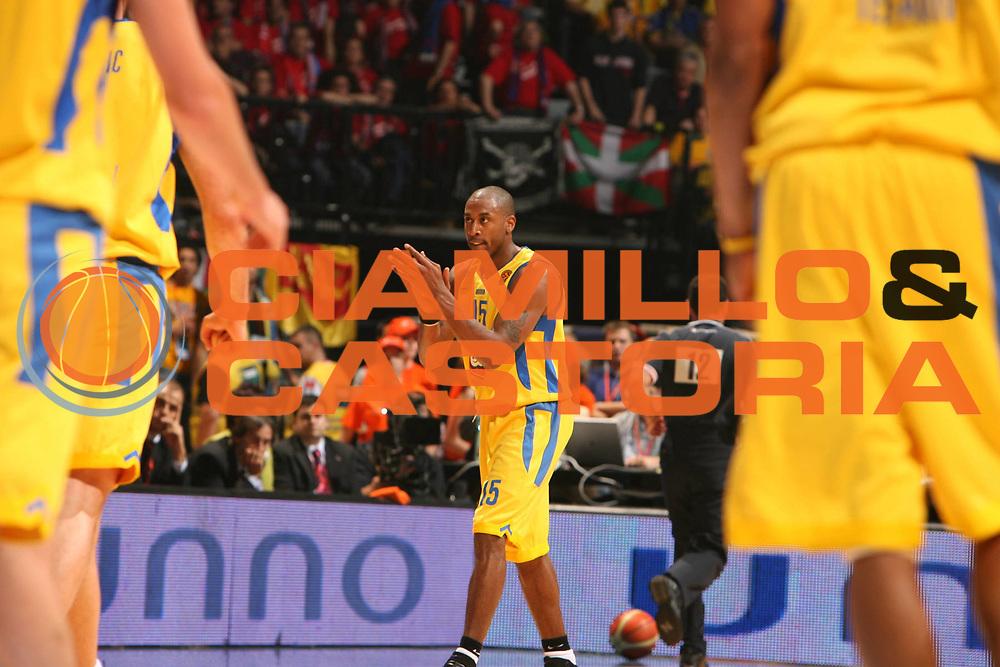 DESCRIZIONE : Praga Eurolega 2005-06 Final Four Semifinale Maccabi Tel Aviv Tau Ceramica Vitoria <br />GIOCATORE : Solomon<br />SQUADRA : Maccabi Tel Aviv<br />EVENTO : Eurolega 2005-2006 Final Four Semifinale <br />GARA : Maccabi Tel Aviv Tau Ceramica Vitoria <br />DATA : 28/04/2006 <br />CATEGORIA : Esultanza<br />SPORT : Pallacanestro <br />AUTORE : Agenzia Ciamillo-Castoria/E.Castoria