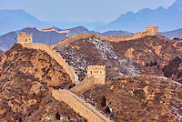Chine, province de Hebei, la grande muraille de Chine entre Jinshanling et Simatai construite en 1570 sous la dynastie Ming, classée Patrimoine Mondial de l'UNESCO // China, Hebei province, Great Wall of China, Jinshanling and Simatai section, Unesco World Heritage