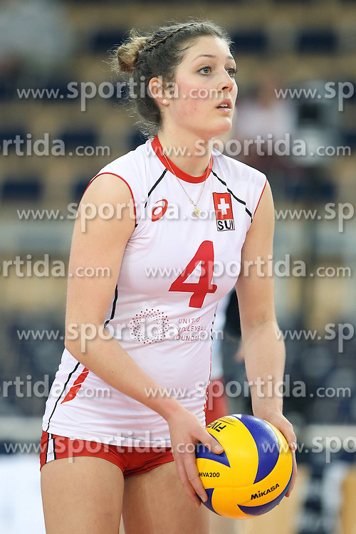 04.01.2014, Atlas Arena, Lotz, POL, FIVB, Damen WM Qualifikation, Belgien vs Schweiz, im Bild ELENA STEINEMANN SYLWETKA // ELENA STEINEMANN SYLWETKA during the ladies FIVB World Championship qualifying match between Belgium and Switzerland at the Atlas Arena in Lotz, Poland on 2014/01/05. EXPA Pictures &copy; 2014, PhotoCredit: EXPA/ Newspix/ Maciej Goclon<br /> <br /> *****ATTENTION - for AUT, SLO, CRO, SRB, BIH, MAZ, TUR, SUI, SWE only*****