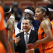 UNCASVILLE, CONNECTICUT- MAY 26:  Head coach Curt Miller on the sideline during the Los Angeles Sparks Vs Connecticut Sun, WNBA regular season game at Mohegan Sun Arena on May 26, 2016 in Uncasville, Connecticut. (Photo by Tim Clayton/Corbis via Getty Images)