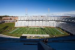 November 14, 2009; Charlottesville, VA, USA;  View of Scott Stadium before the game between the Virginia Cavaliers and the Boston College Eagles.  Mandatory Credit: Jason O. Watson-US PRESSWIRE