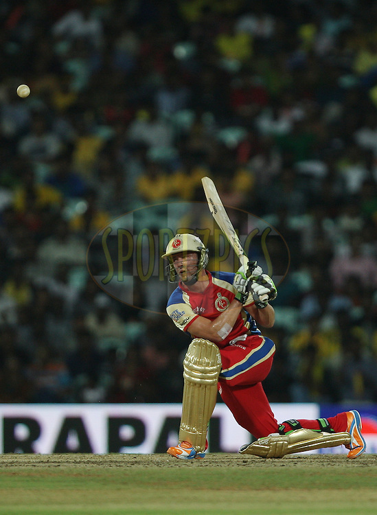 AB de Villiers during match 14 of the Indian Premier League ( IPL ) Season 4 between the Chennai Superkings and The Royal Challengers Bangalore held at the MA Chidambaram Stadium in Chennai, Tamil Nadu, India on the 16th April 2011..Photo by Jacques Rossouw/BCCI/SPORTZPICS .
